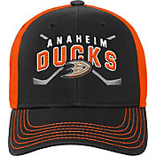 NHL Youth Anaheim Ducks Basic Strucutred Black Adjustable Hat