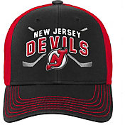 NHL Youth New Jersey Devils Basic Strucutred Black Adjustable Hat