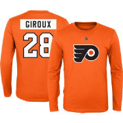 NHL Youth Philadelphia Flyers Claude Giroux #28 Orange Long Sleeve Player Shirt