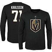 NHL Youth Vegas Golden Knights William Karlsson #71 Black Long Sleeve Player Shirt