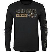 NHL Youth Vegas Golden Knights Formation Black Long Sleeve Shirt
