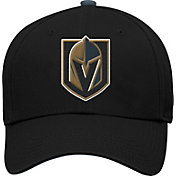 NHL Youth Vegas Golden Knights Basic Structured Black Adjustable Hat
