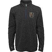 NHL Youth Vegas Golden Knights Polymer Black Quarter-Zip Pullover