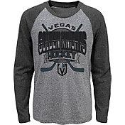 NHL Youth Vegas Golden Knights Home Rink Black Raglan T-Shirt