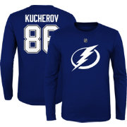 NHL Youth Tampa Bay Lightning Nikita Kucherov #86 Royal Long Sleeve Player Shirt