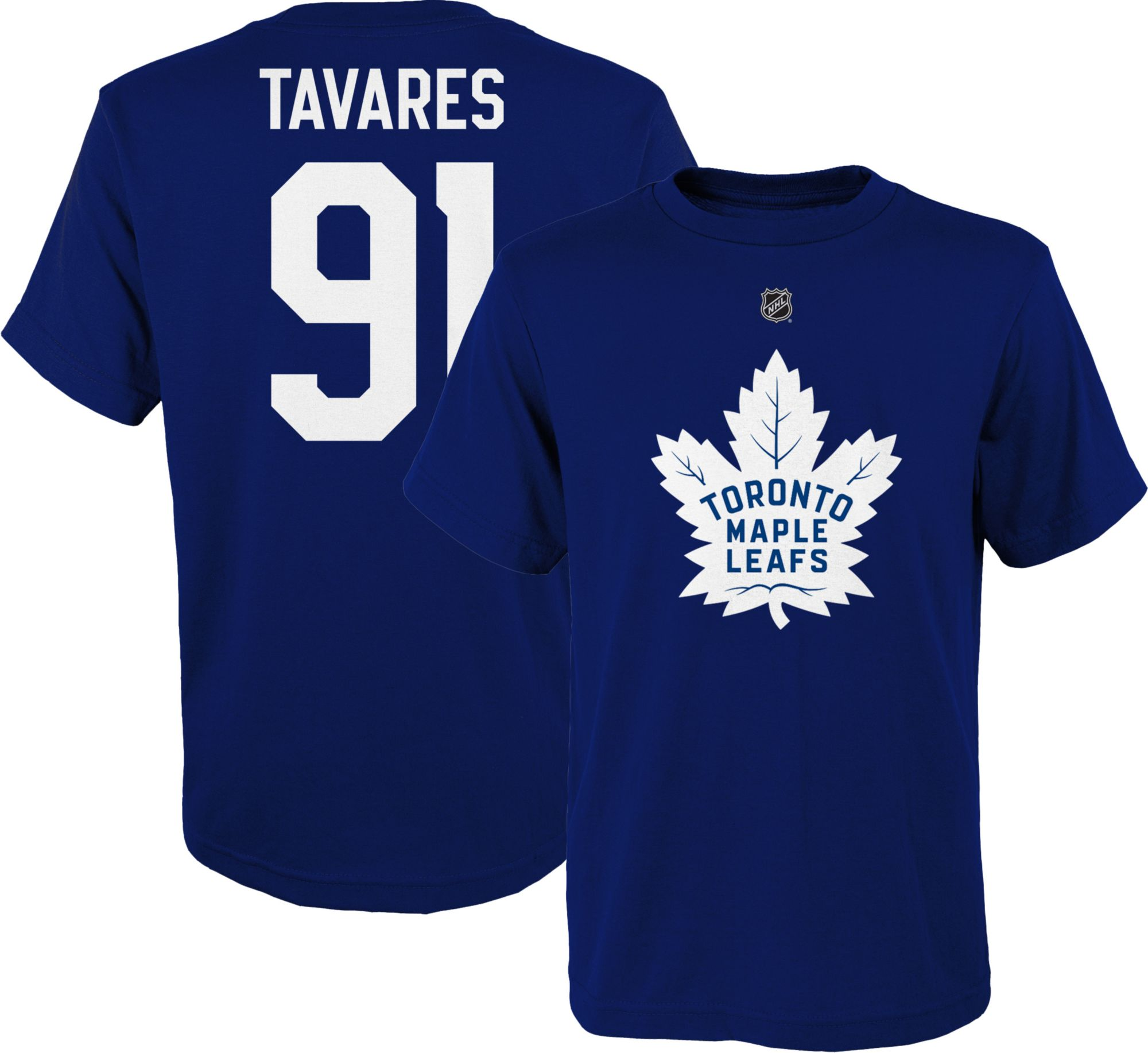 newest 289ef e558d NHL Youth Toronto Maple Leafs John Tavares #91 Royal Player T-Shirt