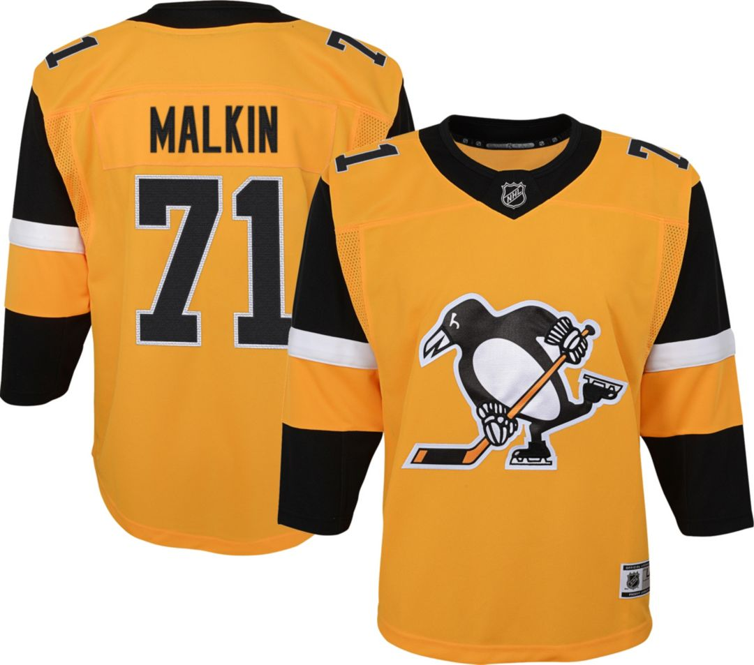 huge discount e266f 39756 NHL Youth Pittsburgh Penguins Evgeni Malkin #71 Premium Alternate Jersey