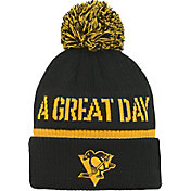 NHL Youth 2019 Stadium Series Pittsburgh Penguins Authentic Black Cuff Pom Knit Beanie