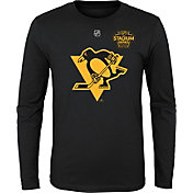 NHL Youth 2019 Stadium Series Pittsburgh Penguins Crest Black Long Sleeve Shirt