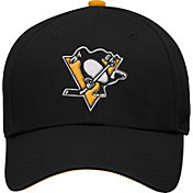 NHL Youth Pittsburgh Penguins Basic Structured Black Adjustable Hat