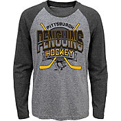 NHL Youth Pittsburgh Penguins Home Rink Black Raglan T-Shirt