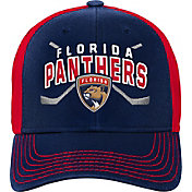 NHL Youth Florida Panthers Basic Strucutred Navy Adjustable Hat