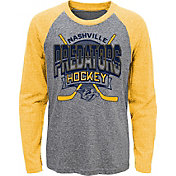 NHL Youth Nashville Predators Home Rink Gold Raglan T-Shirt