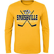 NHL Youth Nashville Predators Smashville Pride Gold Long Sleeve Shirt