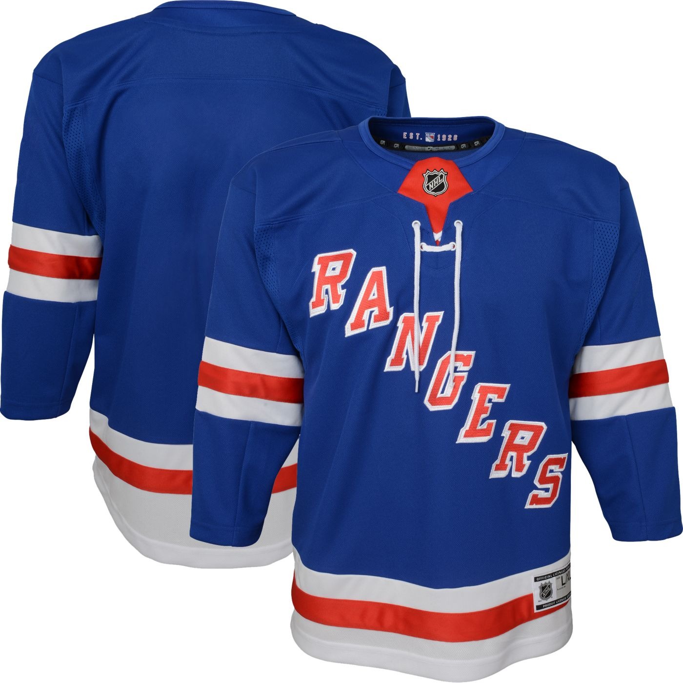 NHL Youth New York Rangers Premier Home Jersey