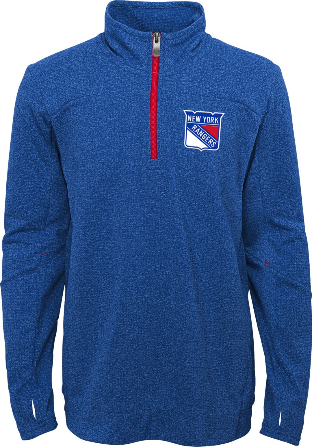 finest selection 7c0ba dd658 NHL Youth New York Rangers Polymer Blue Quarter-Zip Pullover
