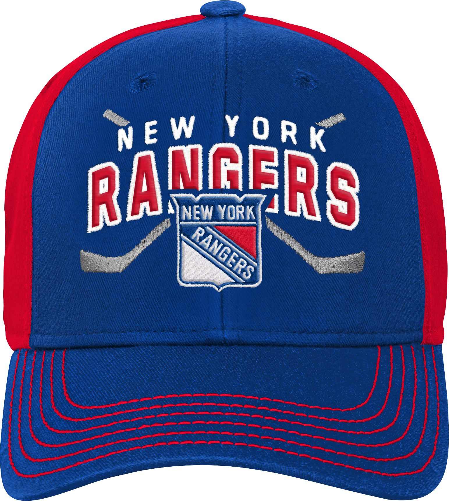 2e55d52e58e NHL Youth New York Rangers Basic Strucutred Blue Adjustable Hat ...