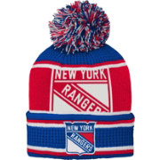 NHL Youth New York Rangers Grinder Blue Pom Knit Beanie