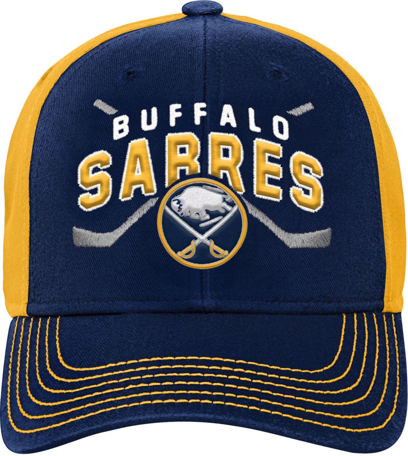NHL Youth Buffalo Sabres Basic Strucutred Navy Adjustable Hat