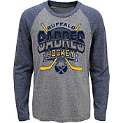 NHL Youth Buffalo Sabres Home Rink Navy Raglan T-Shirt