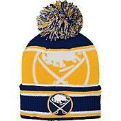 NHL Youth Buffalo Sabres Grinder Navy Pom Knit Beanie