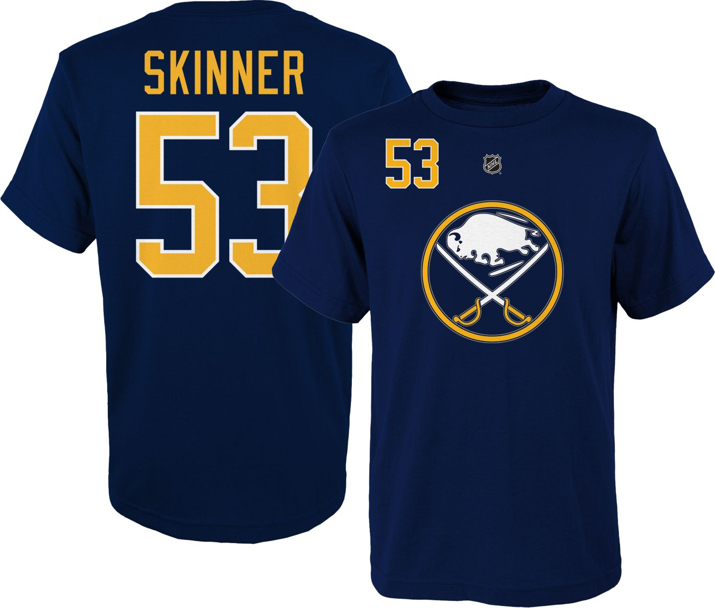 NHL Youth Buffalo Sabres Jeff Skinner #53 Navy Player T-Shirt