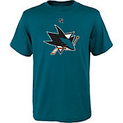 NHL Youth San Jose Sharks Primary Logo Teal T-Shirt