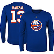 NHL Youth New York Islanders Matthew Barzal #13 Royal Long Sleeve Player Shirt