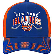NHL Youth New York Islanders Basic Strucutred Blue Adjustable Hat
