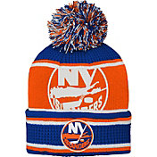 NHL Youth New York Islanders Grinder Blue Pom Knit Beanie