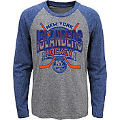 NHL Youth New York Islanders Home Rink Royal Raglan T-Shirt