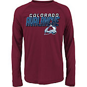 NHL Youth Colorado Avalanche Rink Bound Maroon Long Sleeve Shirt