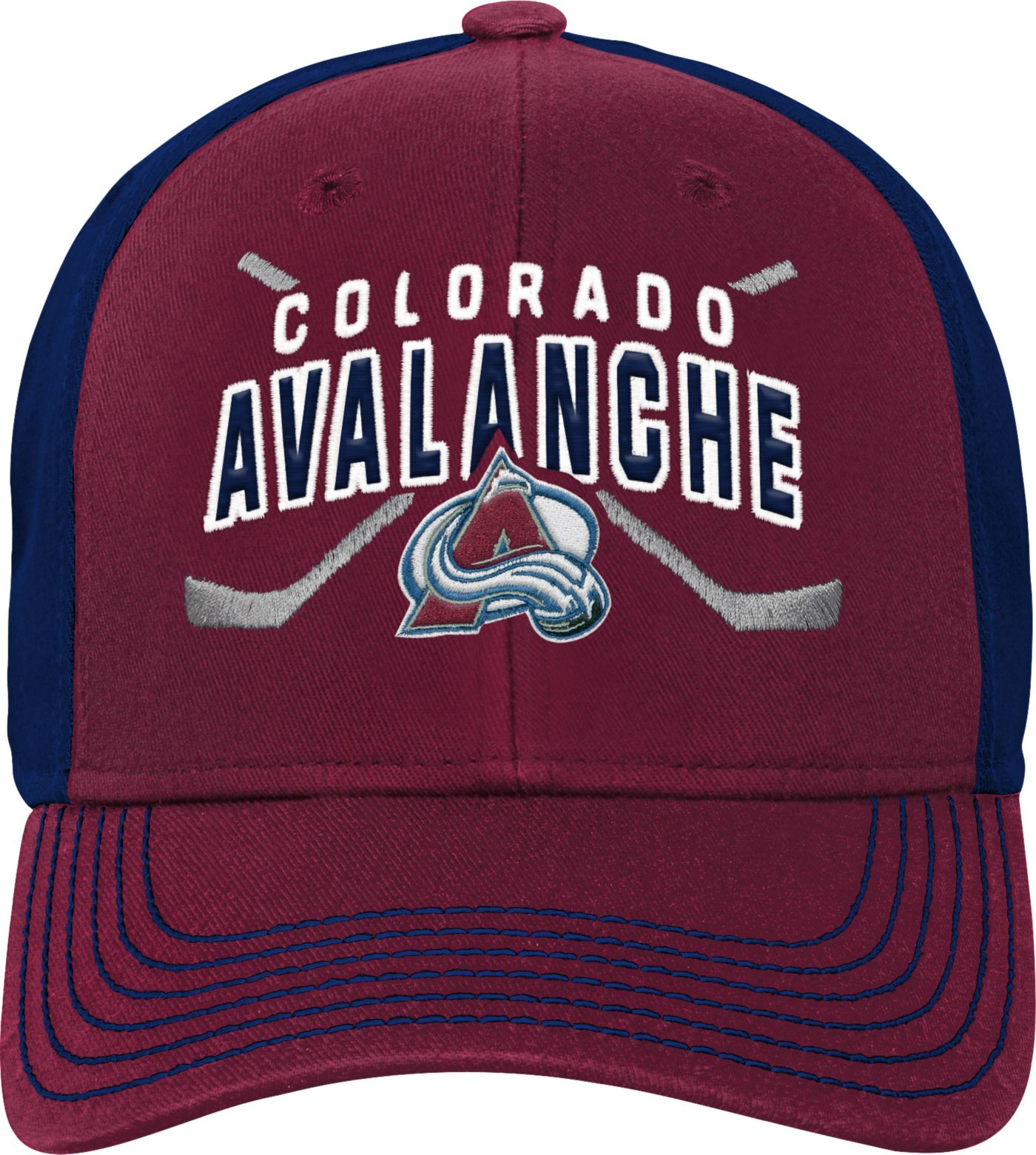 NHL Youth Colorado Avalanche Basic Strucutred Red Adjustable Hat
