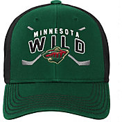 NHL Youth Minnesota Wild Basic Strucutred Green Adjustable Hat