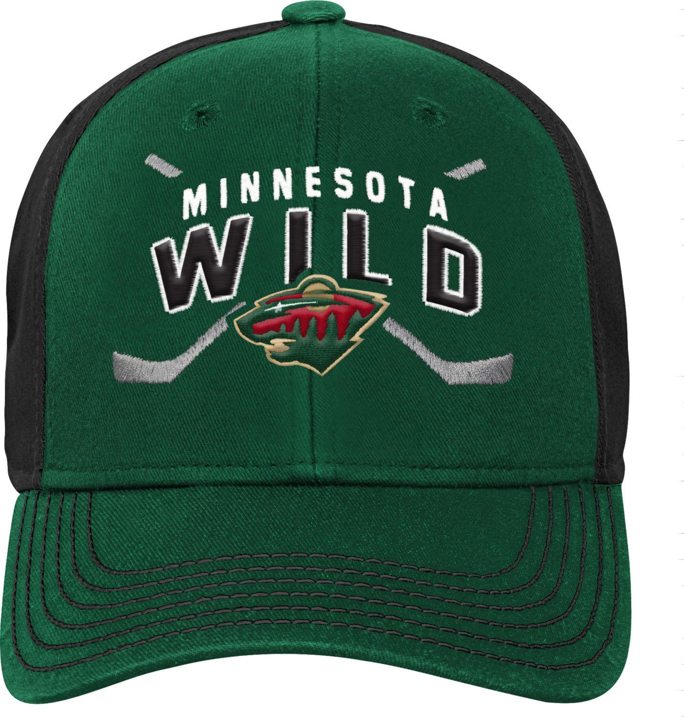NHL Youth Minnesota Wild Basic Strucutred Green Adjustable Hat