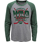 NHL Youth Minnesota Wild Home Rink Green Raglan T-Shirt