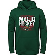 NHL Youth Minnesota Wild Attitude Green Pullover Hoodie