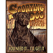 Sporting Dog Services Tin Sign