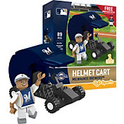OYO Milwaukee Brewers Batting Helmet Cart Figurine Set