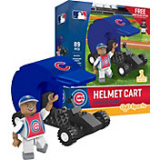 OYO Chicago Cubs Batting Helmet Cart Figurine Set