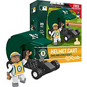 OYO Oakland Athletics Batting Helmet Cart Figurine Set