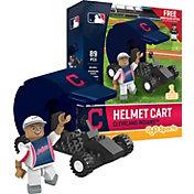 OYO Cleveland Indians Batting Helmet Cart Figurine Set