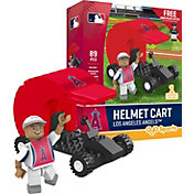OYO Los Angeles Angels Batting Helmet Cart Figurine Set