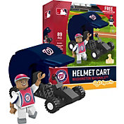 OYO Washington Nationals Batting Helmet Cart Figurine Set