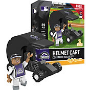 OYO Colorado Rockies Batting Helmet Cart Figurine Set