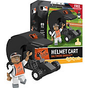 OYO Baltimore Orioles Batting Helmet Cart Figurine Set