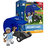 OYO Kansas City Royals Batting Helmet Cart Figurine Set