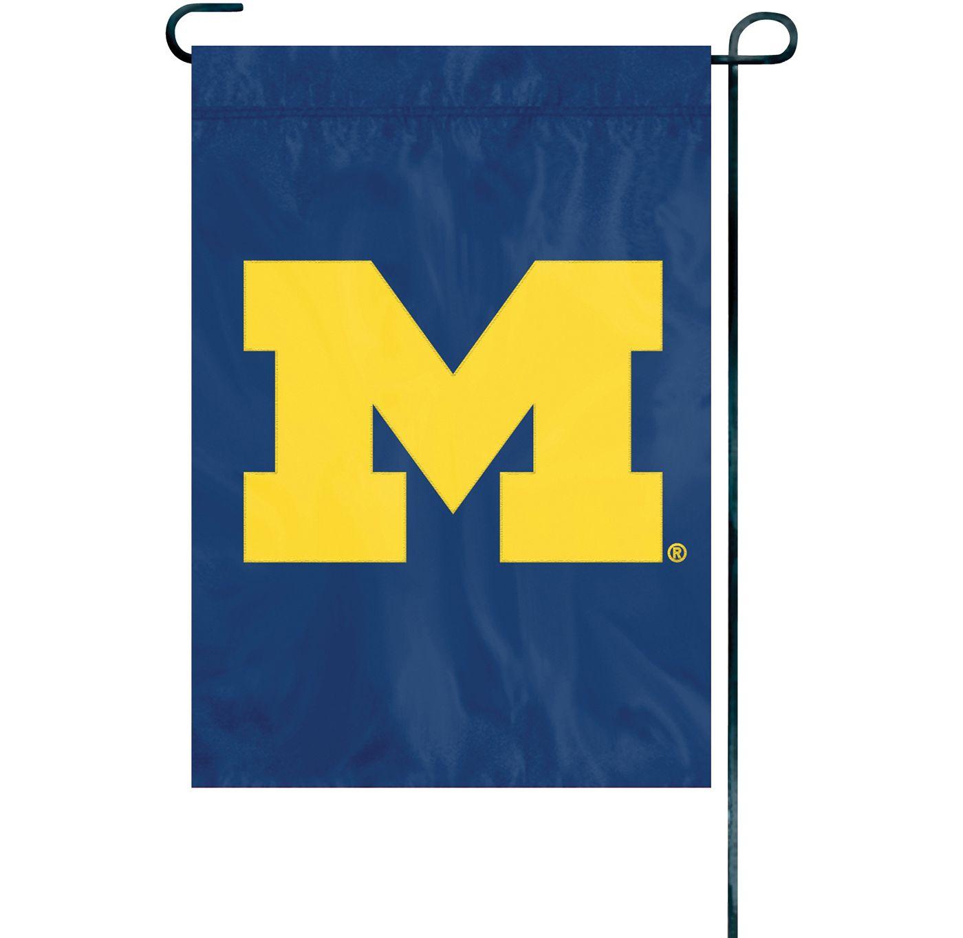Party Animal Michigan Wolverines Premium Garden Flag