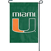 Party Animal Miami Hurricanes Premium Garden Flag