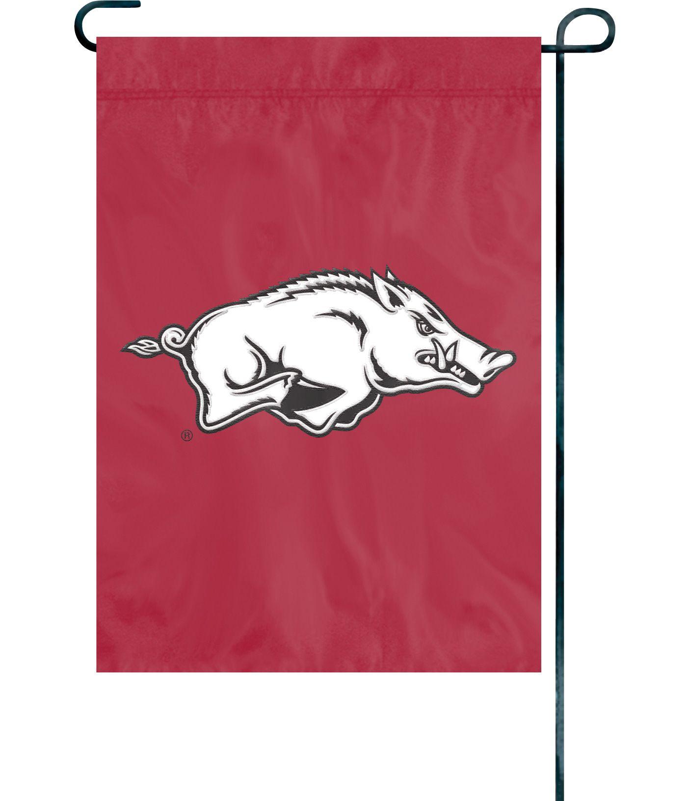 Party Animal Arkansas Razorbacks Premium Garden Flag